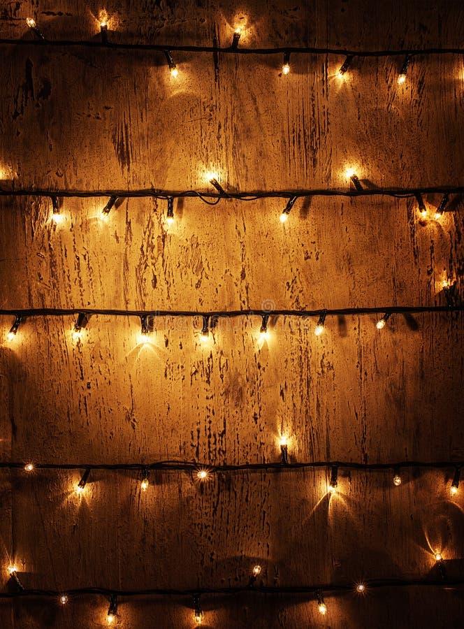 Fundo das luzes de Natal imagens de stock royalty free