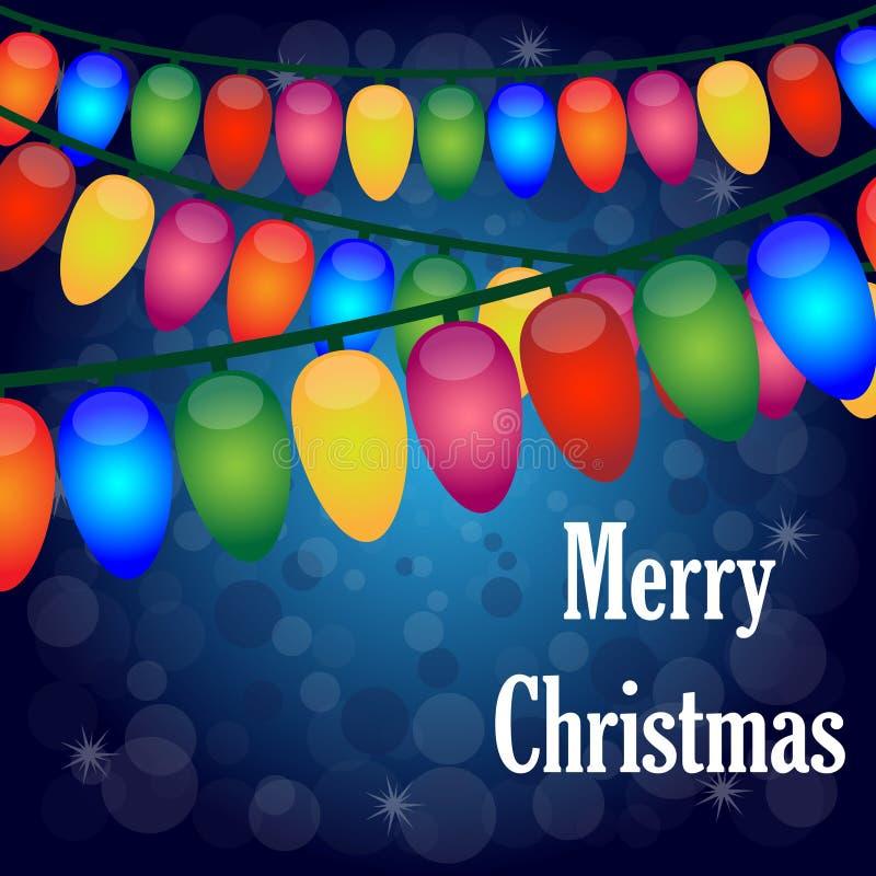 Fundo das luzes de Natal ilustração stock