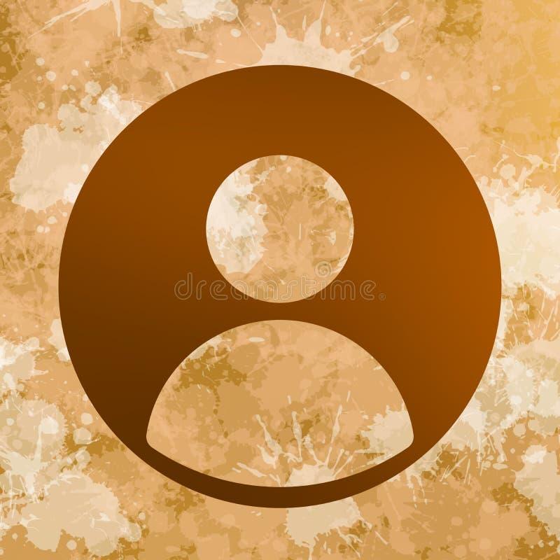 Fundo das manchas com ícone do perfil social sobre o tanoeiro ilustração royalty free