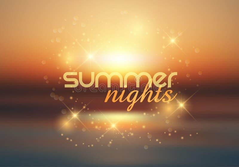 Fundo das noites de verão ilustração do vetor