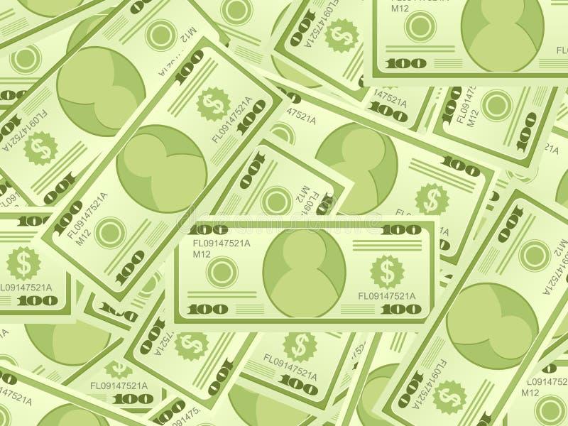 Fundo das notas de banco do dólar ilustração royalty free