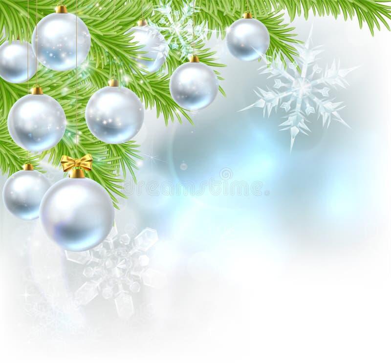 Fundo das quinquilharias da árvore de Natal ilustração stock