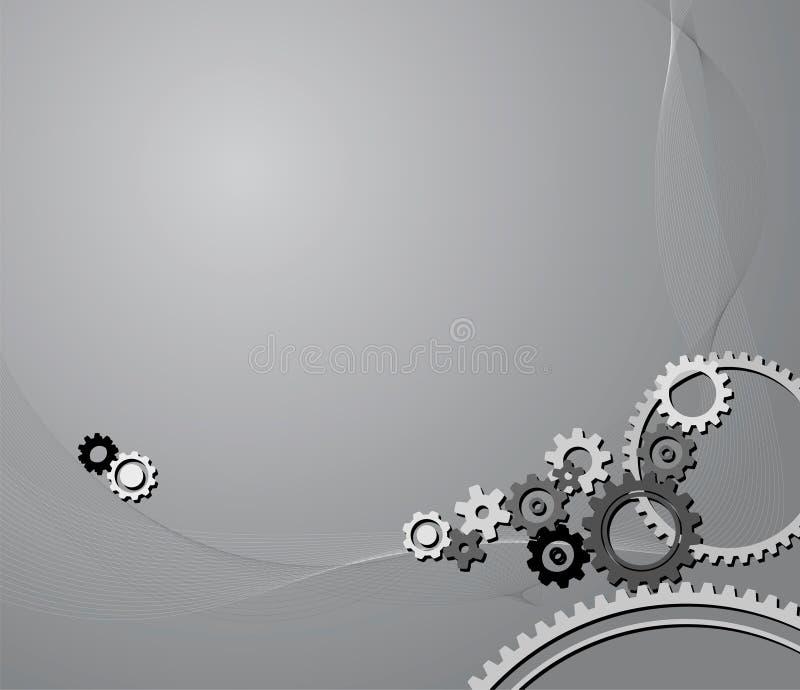 Fundo das rodas denteadas ilustração royalty free