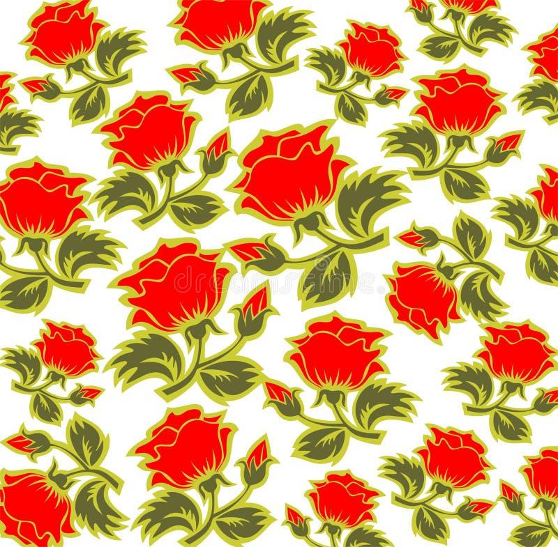 Fundo das rosas ilustração royalty free