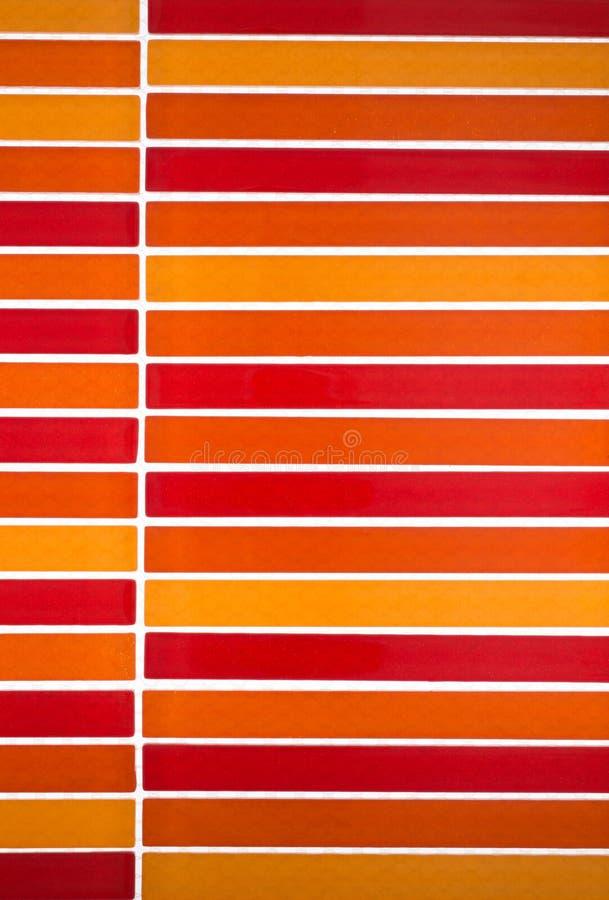 Fundo das telhas de mosaico da cor vermelha fotografia de stock royalty free