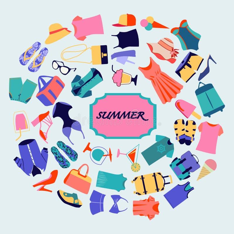 Fundo das vendas do verão do boutique da forma ilustração stock