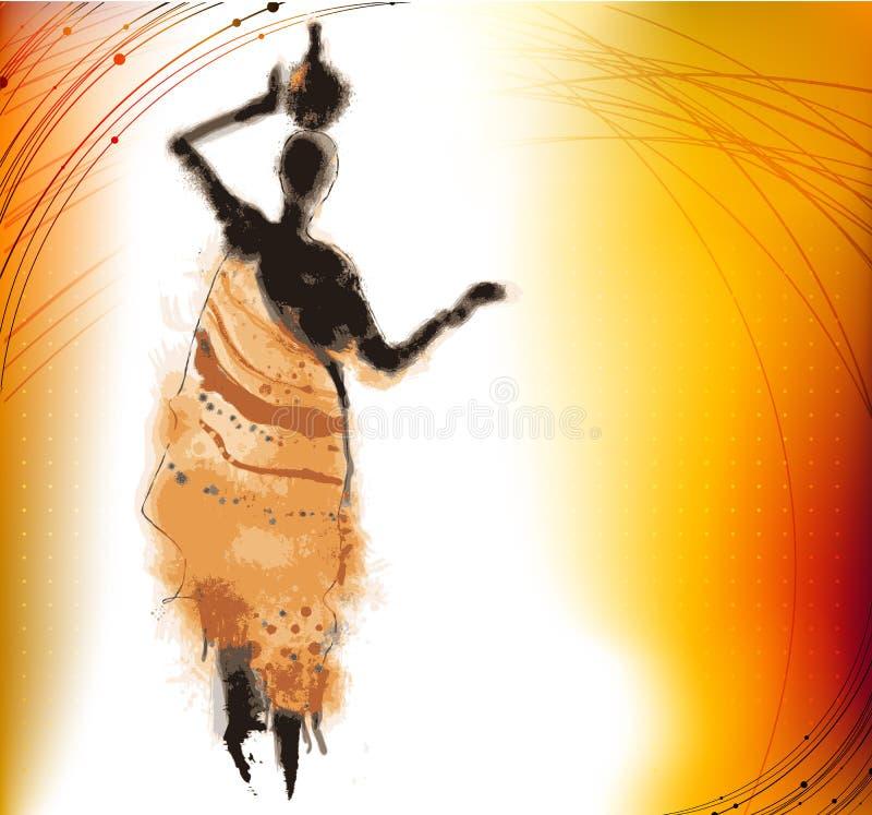Fundo de África ilustração royalty free