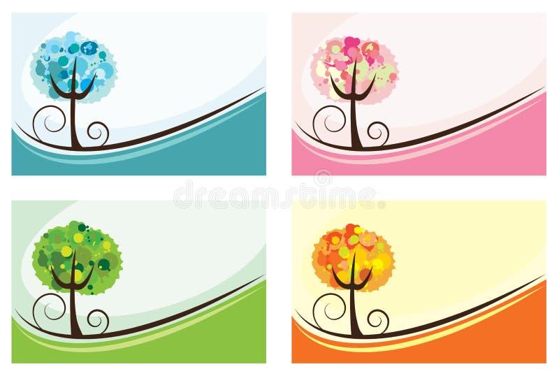 fundo de 4 estações ilustração royalty free
