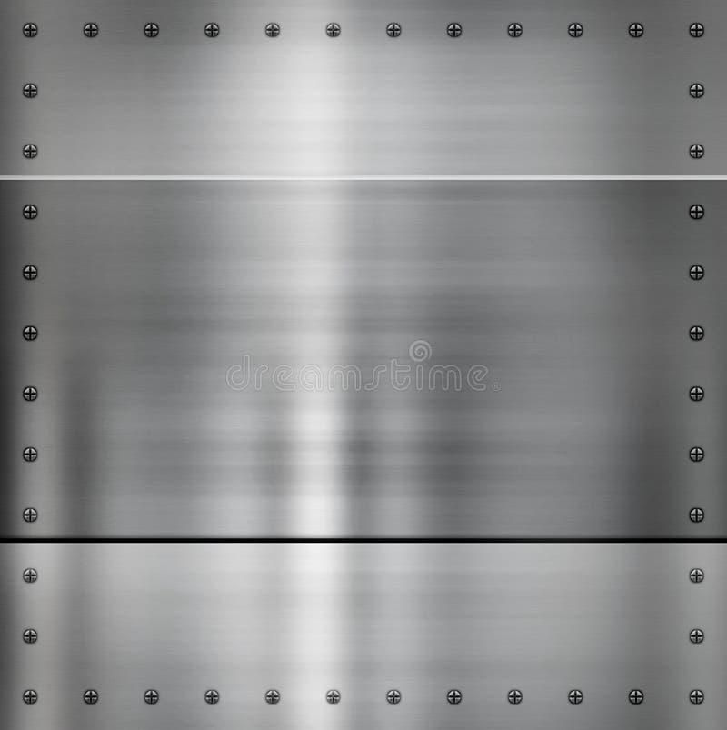 Fundo de aço do metal ilustração do vetor