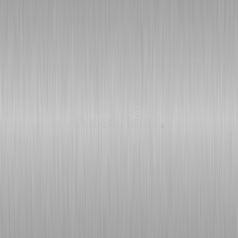 Fundo de aço metálico de prata escovado sem emenda ilustração do vetor