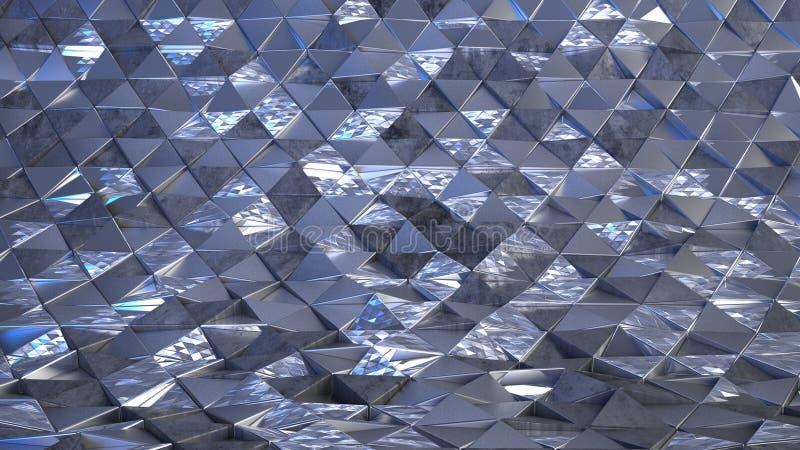Fundo de Abstrato Geométrico 3D imagem de stock royalty free