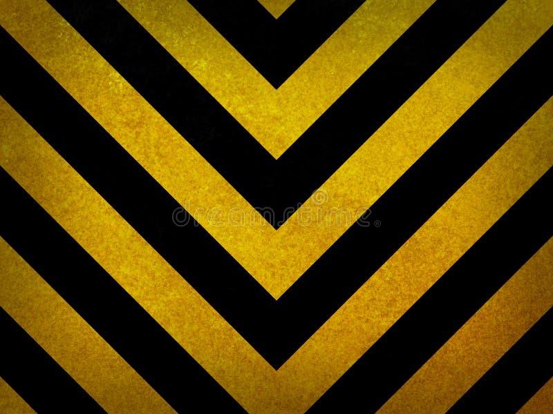 Fundo de advertência preto e amarelo tradicional ilustração do vetor