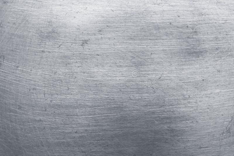 Fundo de alumínio da textura do metal, riscos em de aço inoxidável lustrado foto de stock