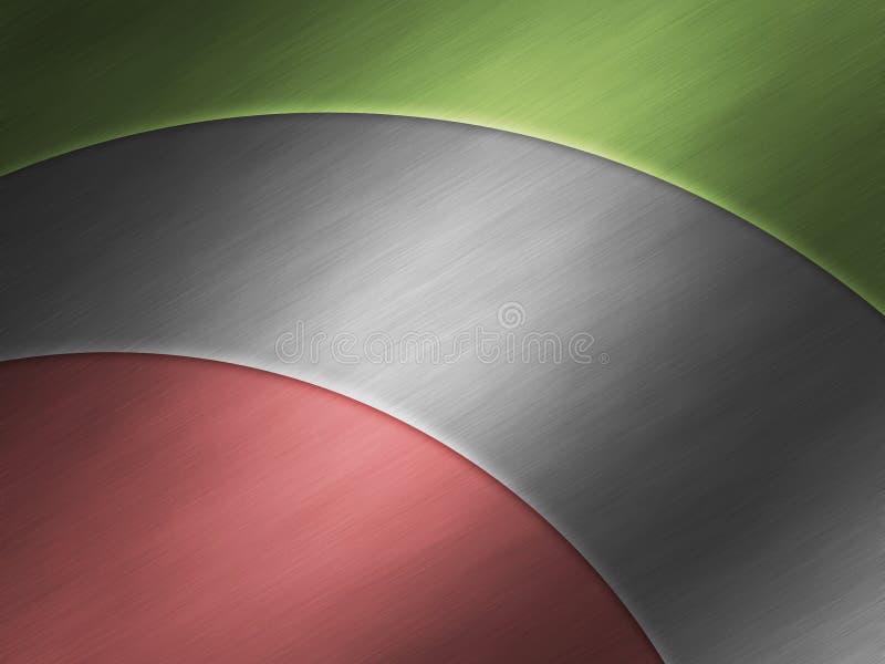 Fundo de alumínio metálico moderno da placa ilustração do vetor