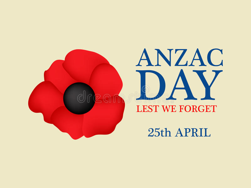 Fundo de Anzac Day ilustração do vetor