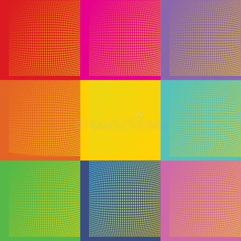 Fundo de Art Andy Warhol do PNF com pontos ilustração do vetor