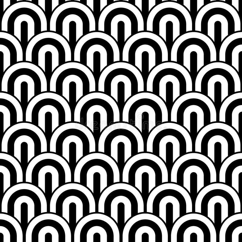Fundo de Art Deco Seamless Pattern Decorative ilustração stock