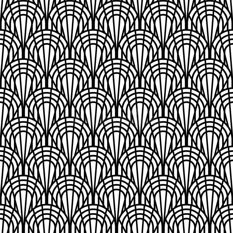 Fundo de Art Deco Seamless Pattern Decorative ilustração do vetor