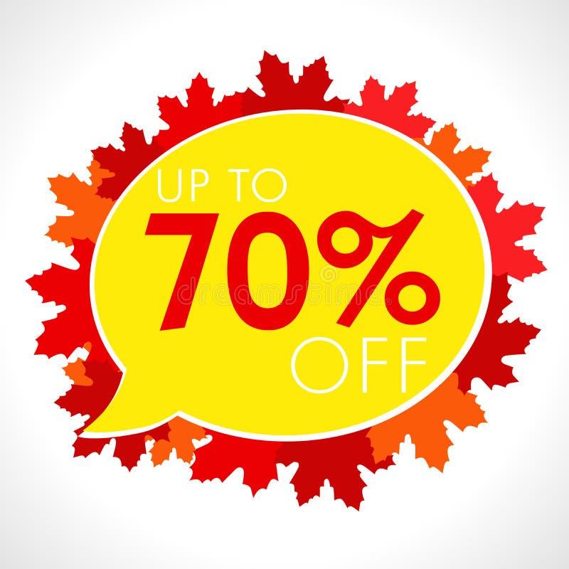 Fundo de Autumn Sale com queda folhas vermelhas e alaranjadas ilustração do vetor