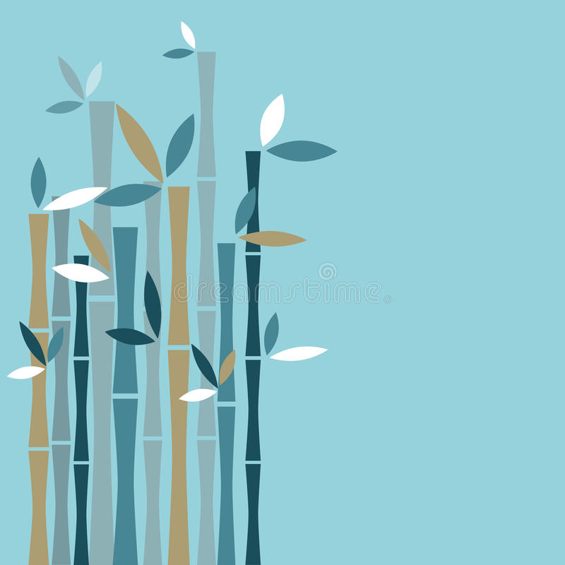 Fundo de bambu ilustração do vetor