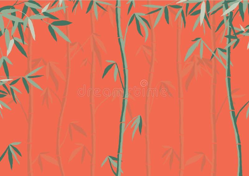 Fundo de bambu brilhante do vetor ilustração stock