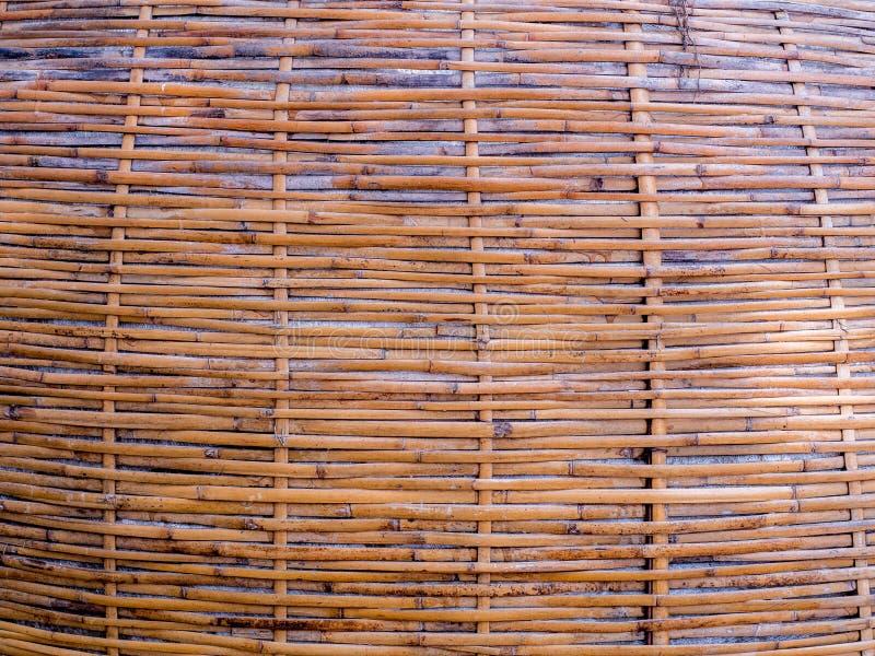 Fundo de bambu da textura do teste padrão, papel de parede da textura da palha imagem de stock