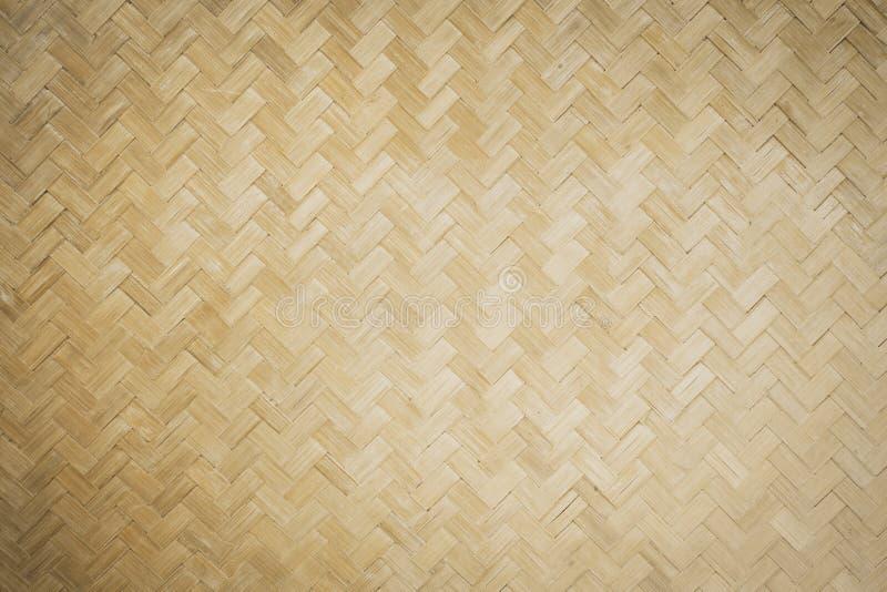Fundo de bambu do weave foto de stock royalty free