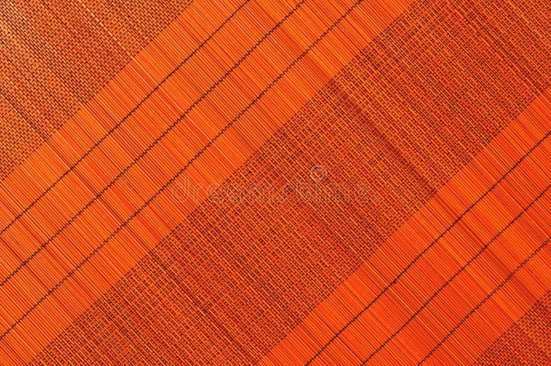 Fundo de bambu webbed Handmade do guardanapo imagem de stock