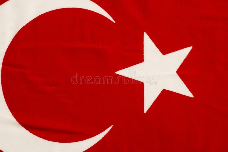 Fundo de bandeira Crescente e Estrela, vermelho e branco da República da Turquia fotografia de stock
