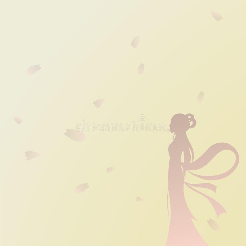 Fundo De Beleza E Flores, Pétalas Sakura ilustração stock