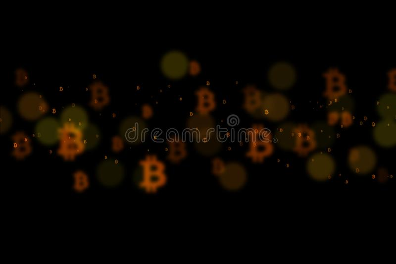 Fundo de Bitcoin, BTC ilustração royalty free