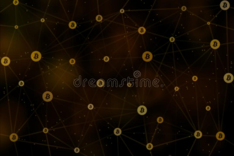 Fundo de Bitcoin, BTC ilustração stock