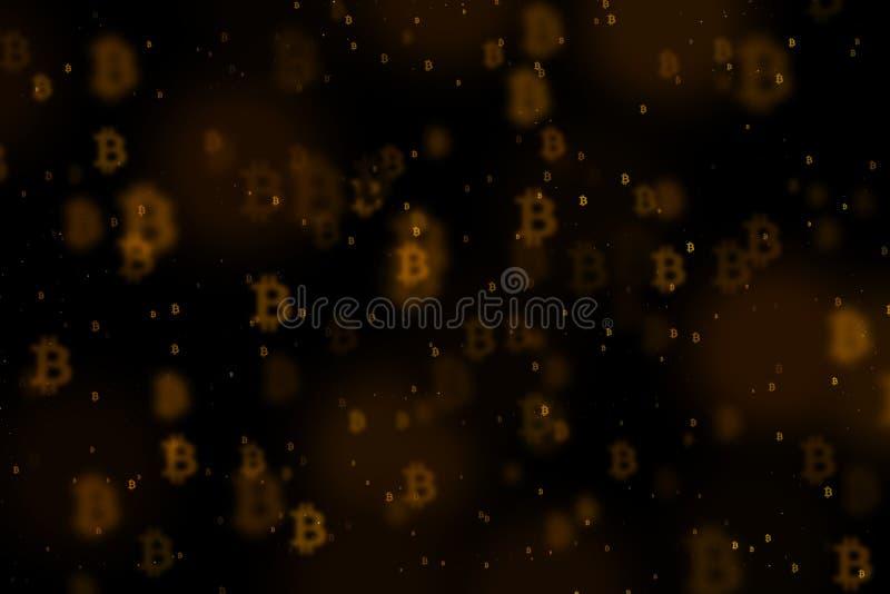 Fundo de Bitcoin, BTC ilustração do vetor