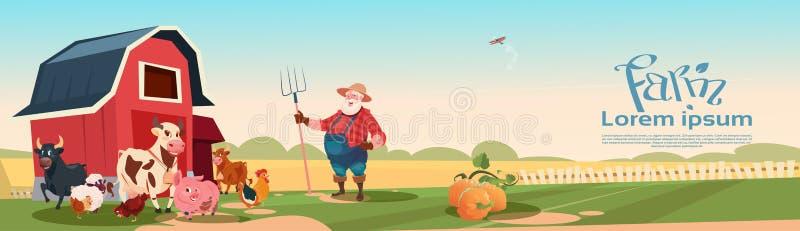 Download Fundo De Breeding Animals Farmland Do Fazendeiro Ilustração do Vetor - Ilustração de cattleman, fazendeiro: 80100043