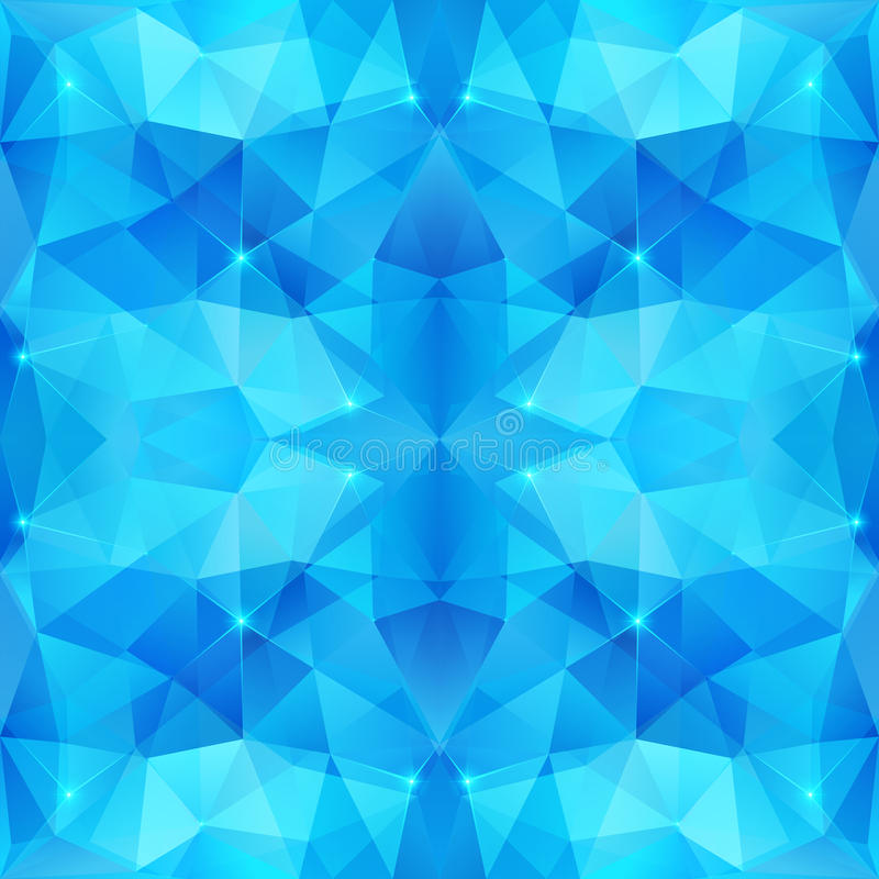 Fundo de brilho abstrato azul do vetor do gelo ilustração royalty free