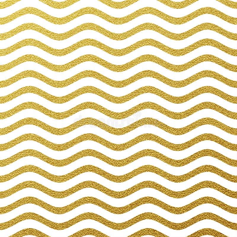 Fundo de brilho da onda do ouro ilustração stock
