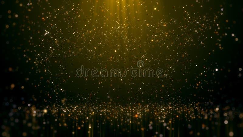Fundo de brilho do sumário do encanto de Bokeh do ouro imagem de stock