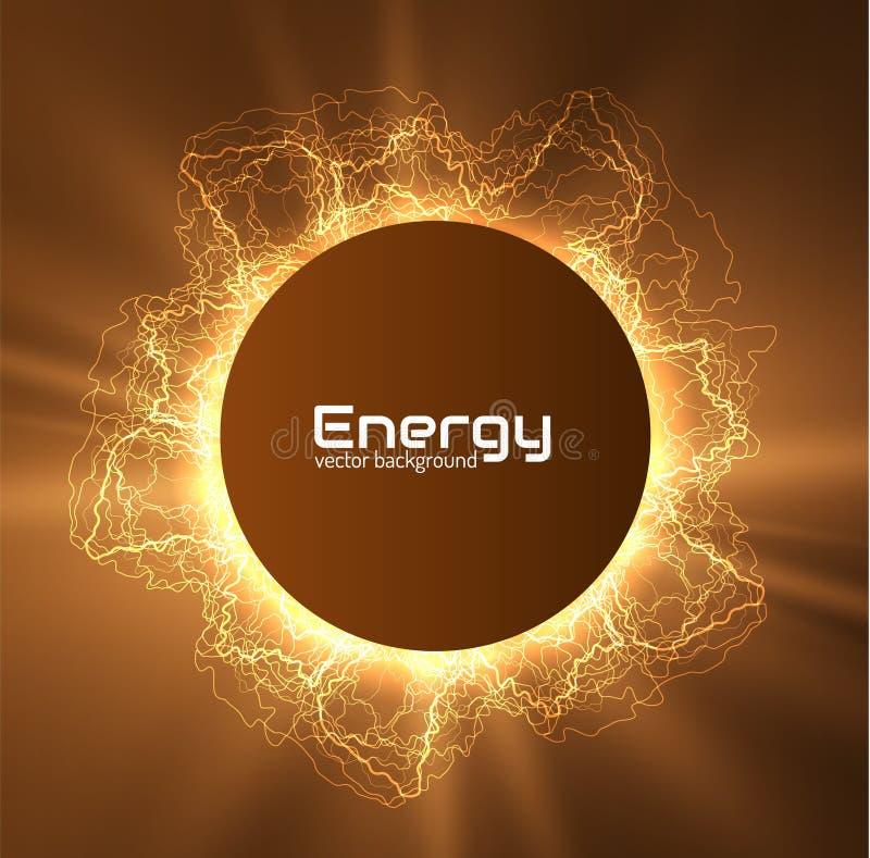 Fundo de brilho do vetor do quadro do relâmpago da energia EPS10 ilustração royalty free
