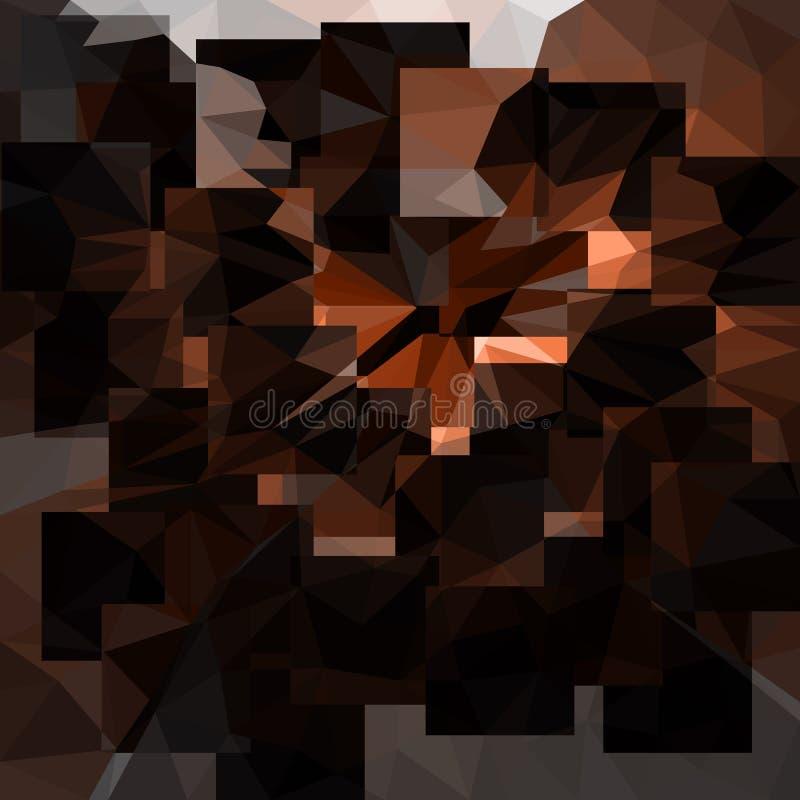 Fundo de bronze do sumário do vetor com triângulos ilustração do vetor