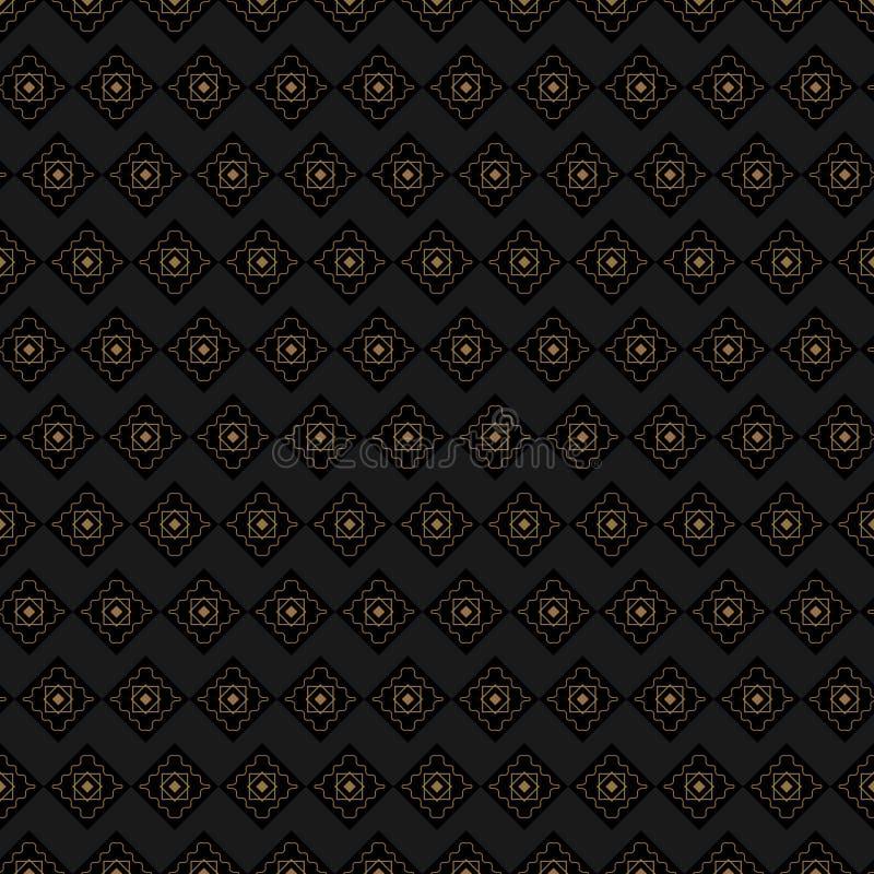 Fundo de Brown com os detalhes do ouro repetidos fotografia de stock royalty free