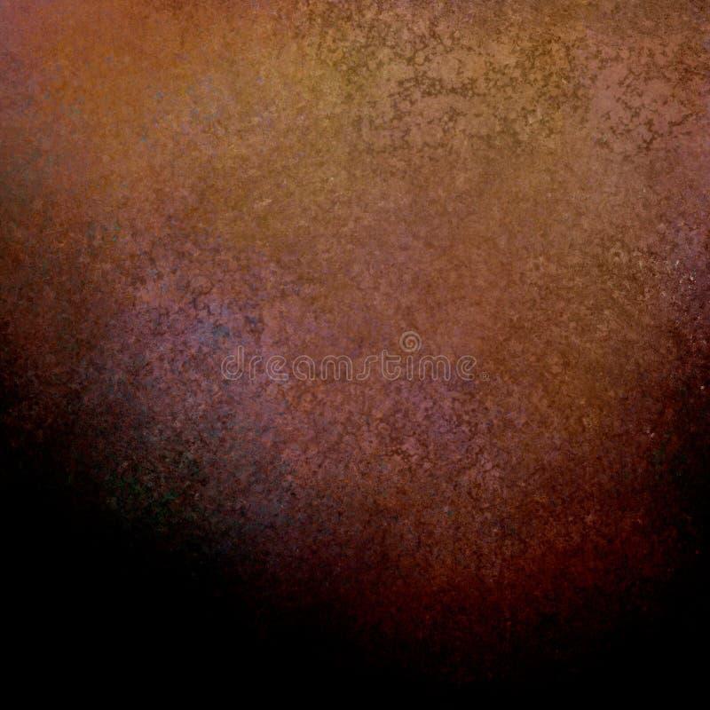 Fundo de Brown com textura do vintage e beira preta da sombra fotografia de stock