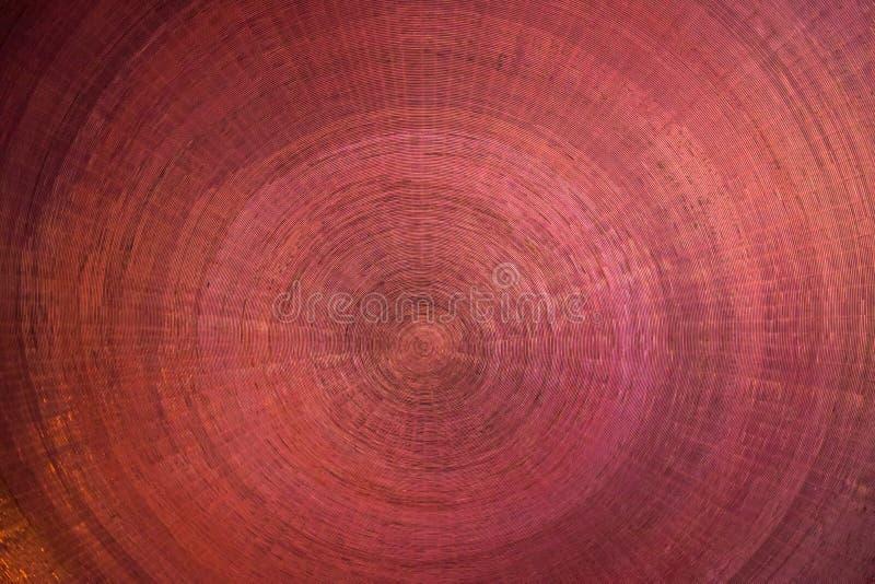 Fundo de Brown feito dos círculos de cobre do metal fotos de stock