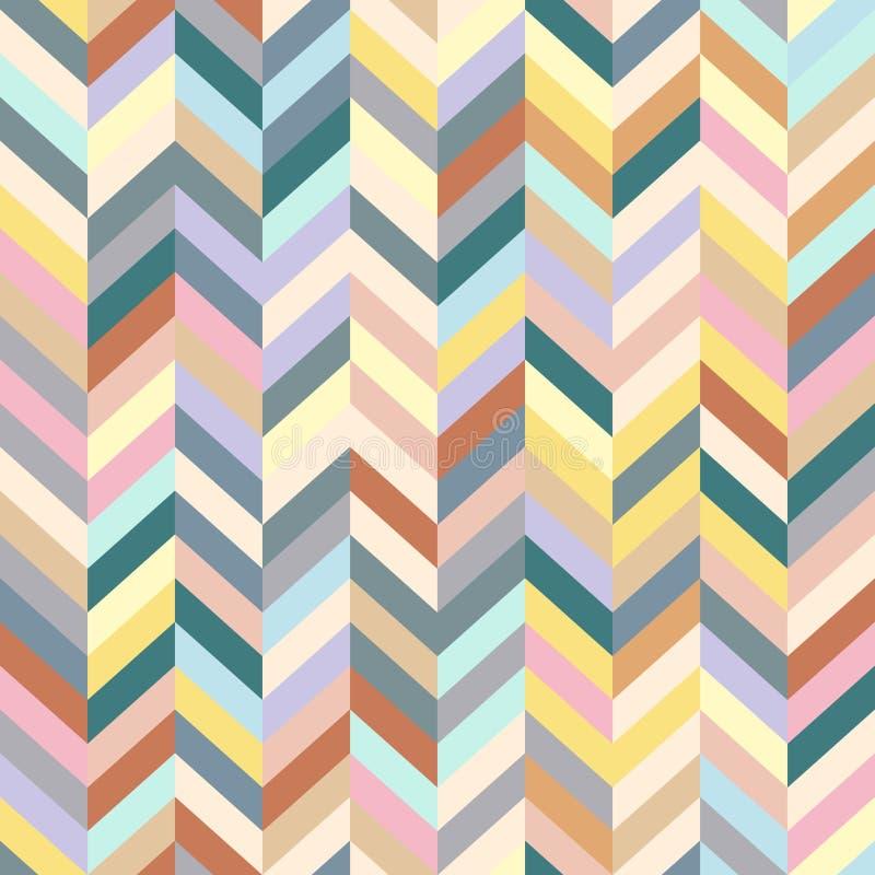 Fundo de Chevron Patern sem emenda descascado colorido Projeto gráfico da forma geométrica Ilustração do vetor Resumo à moda mode ilustração do vetor