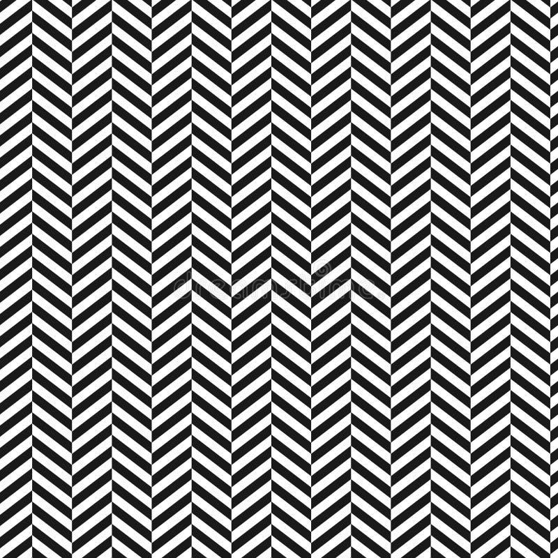 Fundo de Chevron Patern sem emenda descascado preto e branco Projeto gráfico da forma geométrica Ilustração do vetor À moda moder ilustração royalty free