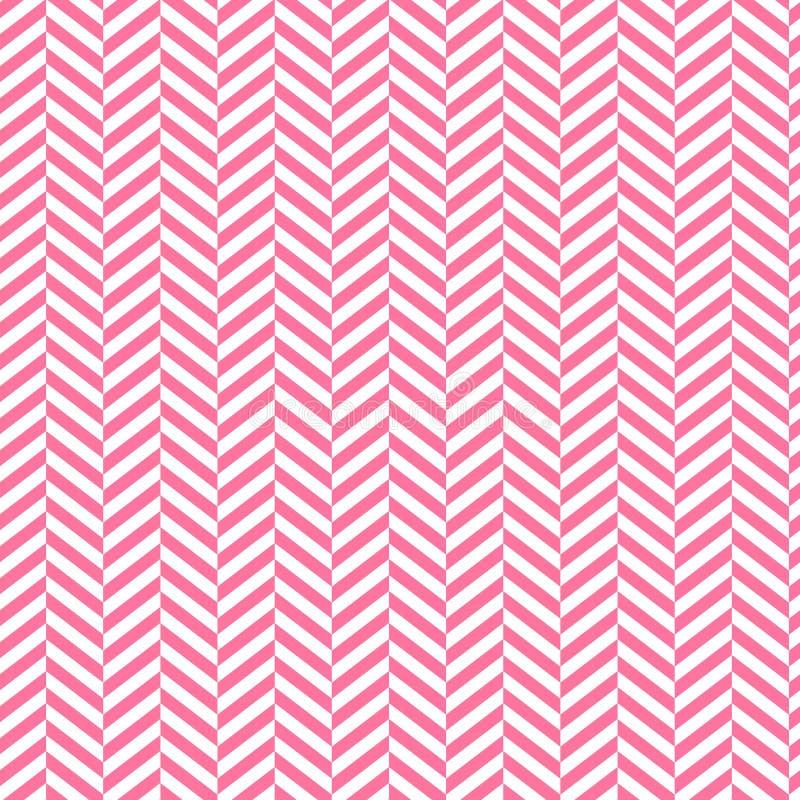Fundo de Chevron Vermelho e patern sem emenda descascado branco Projeto gráfico da forma geométrica Ilustração do vetor À moda mo ilustração stock