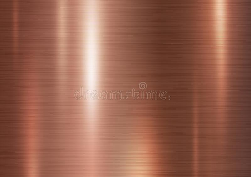 Fundo de cobre da textura do metal ilustração do vetor