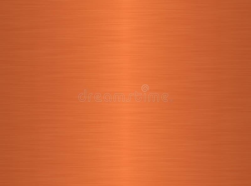 Fundo de cobre escovado ilustração stock