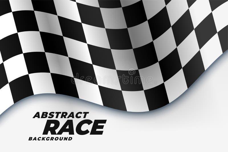 Fundo de competência quadriculado dos esportes da bandeira ilustração royalty free