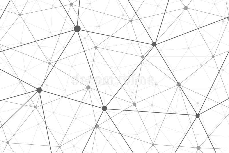 Fundo de conexão do wireframe do vetor ilustração do vetor