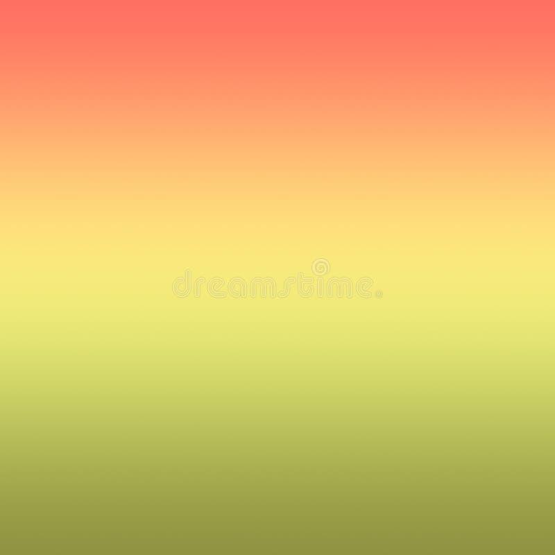 Fundo de Coral Yellow Light Green Gradient Ombre ilustração do vetor